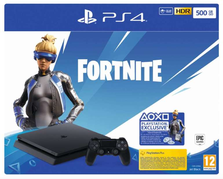 Sony PS4 500GB Jet Black: Fortnite Neo Versa Bundle für 229€