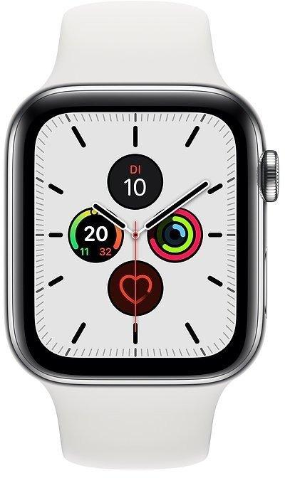 Apple Watch Series 5 40mm GPS + Cellular LTE Edelstahl Weiß für 388,03€ inkl. Versand (statt 585€)