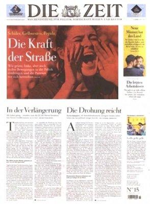 """Mini-Abo: 13 Ausgaben """"Die Zeit"""" für 67,60€ + 65€ Verrechnungsscheck"""