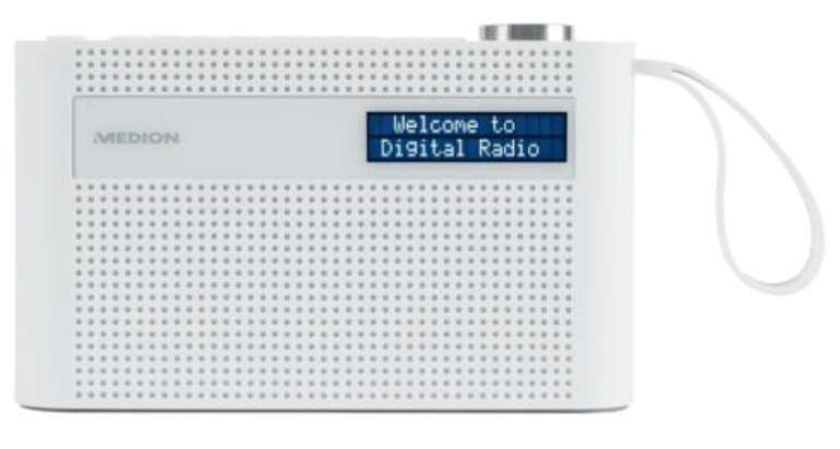 Medion P66007 - Tragbares Bluetooth Radio mit integriertem Akku, Weckfunktion und DAB+ für 22,99€
