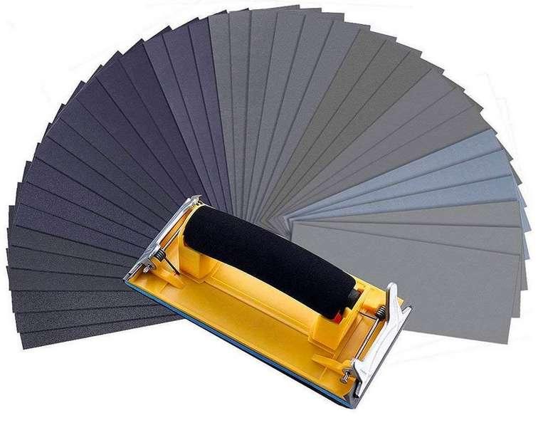 MOHOO Schleifpapier (36 Stück) - 120-3000 Körnung für 7,88€ mit Primeversand