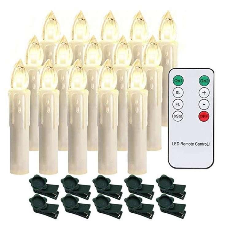 20er, 30er oder 40er Pack dimmbare Hengda LED Weihnachtskerzen ab 11,99€ inkl. VSK
