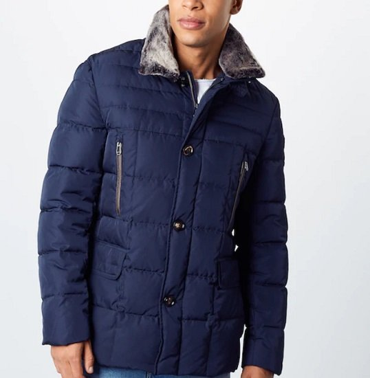 Schnell? JOOP! Herren Winterjacke 'DAROS' in dunkelblau & schwarz für 153€ (statt 293€)