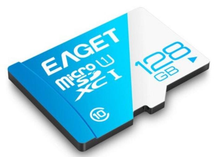Eaget T1 micro-SD Speicherkarte mit 128GB Speicher für  11,89€ inkl. VSK