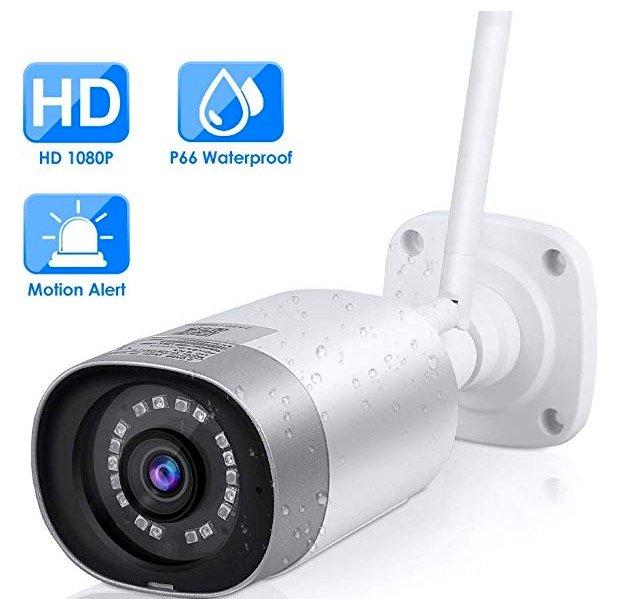 Mbuynow Überwachungskamera Aussen WLAN 1080P für 38,99€ (statt 49€)