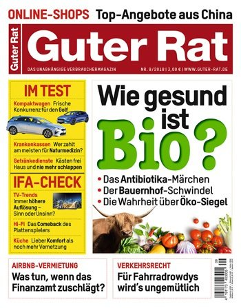 """6 Ausgaben """"Guter Rat"""" für 18€ + 15€ Verrechnungsscheck"""
