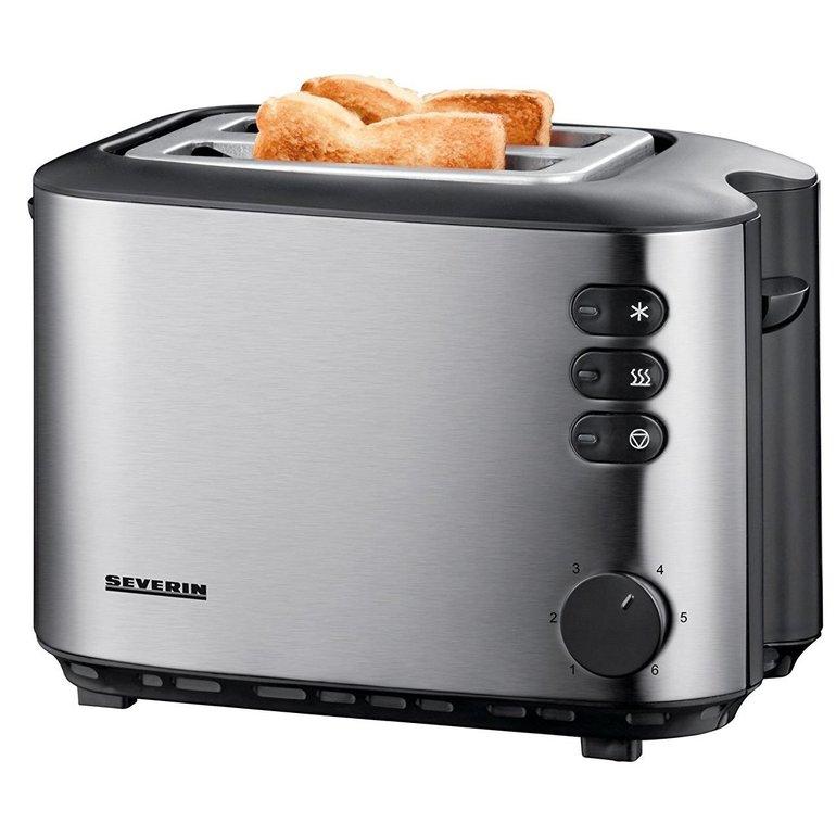 Severin AT 2514 Toaster (850W, Edelstahl, wählbarer Bräunungsgrad) für 20,35€