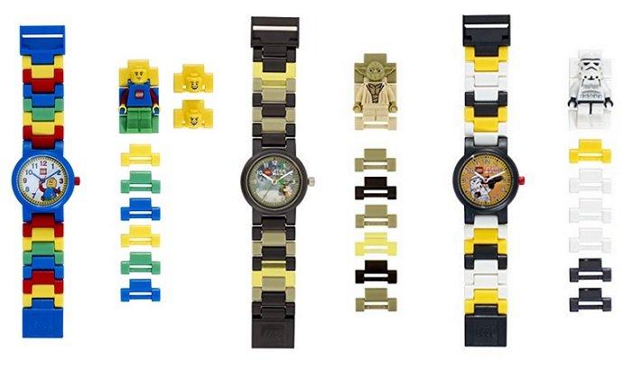LEGO Kinder-Armbanduhren mit Minifigur und Gliederarmband für je nur 15€