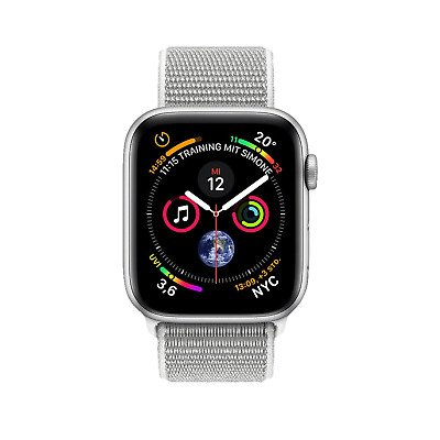 Apple Watch Series 4 GPS 40mm Aluminium + Nylon Armband für 339,48€ (Filiallieferung)