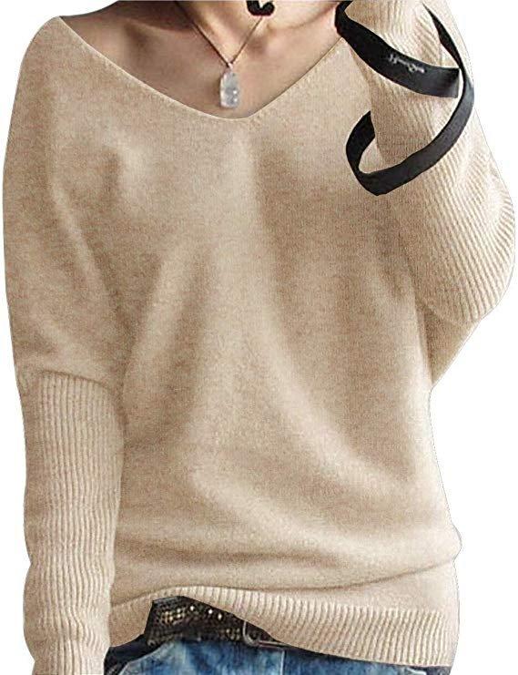 Phelead Damen Oversize Pullover (100% Merinowolle) in 8 Farben für je 19,99€ (Prime)