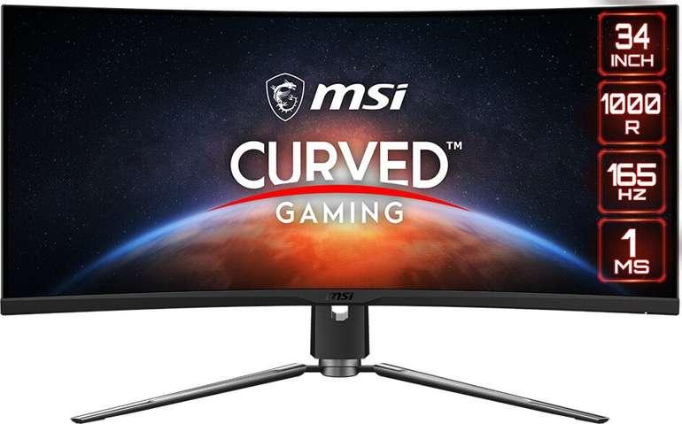 "MSI Artymis 343CQRDE - 34"" IPS Gaming Monitor (3440 x 1440, 1ms, FreeSync, 165 Hz) für 681,95€ (statt 807€)"