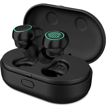 HolyHigh Bluetooth Kopfhörer V5.0 mit Ladecase für 29,89€ inkl. VSK