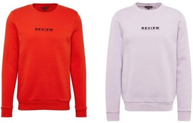 Review Herren Sweatshirt in flieder & rot für je 14,31€ inkl. Versand - Größe M & L