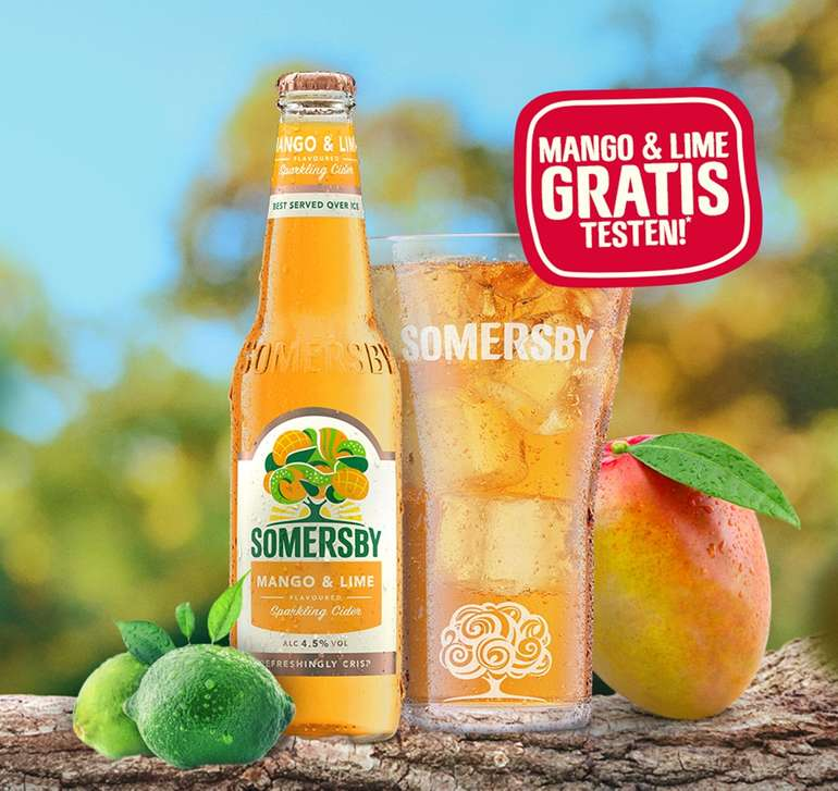 Somersby Sparkling Cider 'Mango & Lime' gratis testen (GzG)