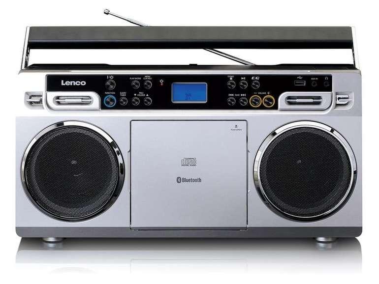 Lenco Vintage-Ghettoblaster SCD-580, CD-Player, USB & Bluetooth für 59,99€