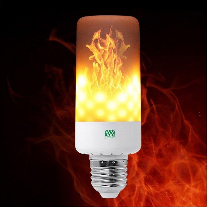 YWXLight LED (E27) mit Feuer-Effekt für 5,07€ inkl. Versand