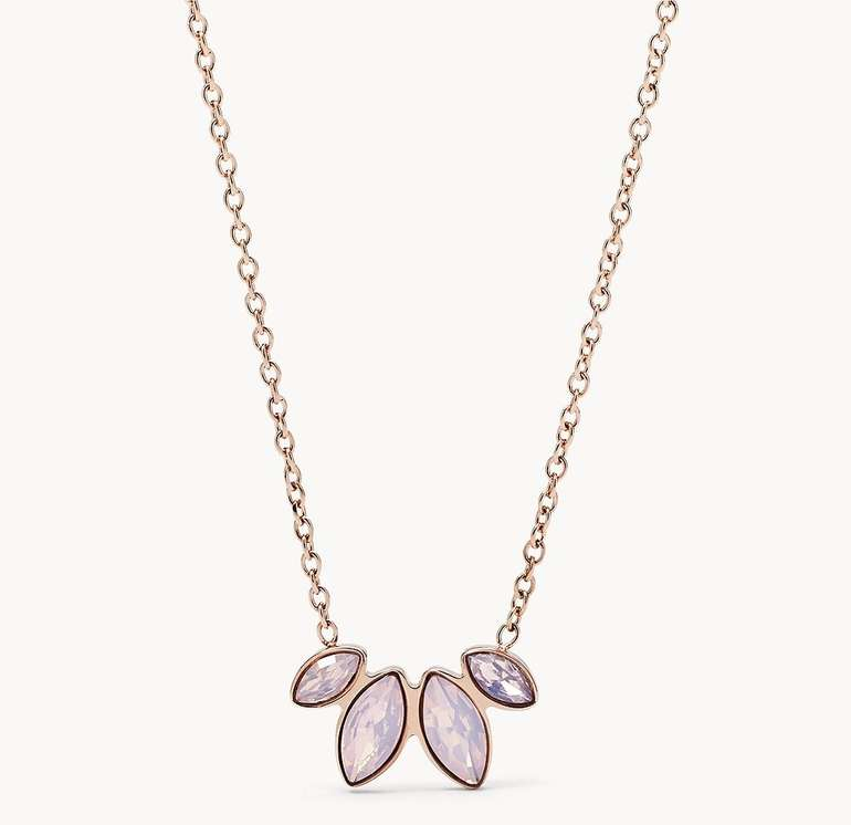 Fossil Damen Halskette Navette Rosé (JF02847791) für 15,60€ inkl. Versand (statt 36€)