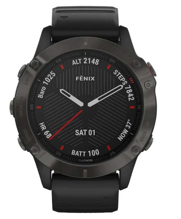 Garmin Fenix 6 Saphire GPS-Sportuhr in schwarz für 485,15€ inkl. Versand (statt 619€)