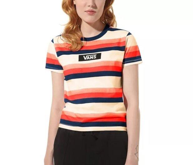 Vans Smile Line T-Shirt - gestreift für 16,65€ inkl. Versand (statt 27€)