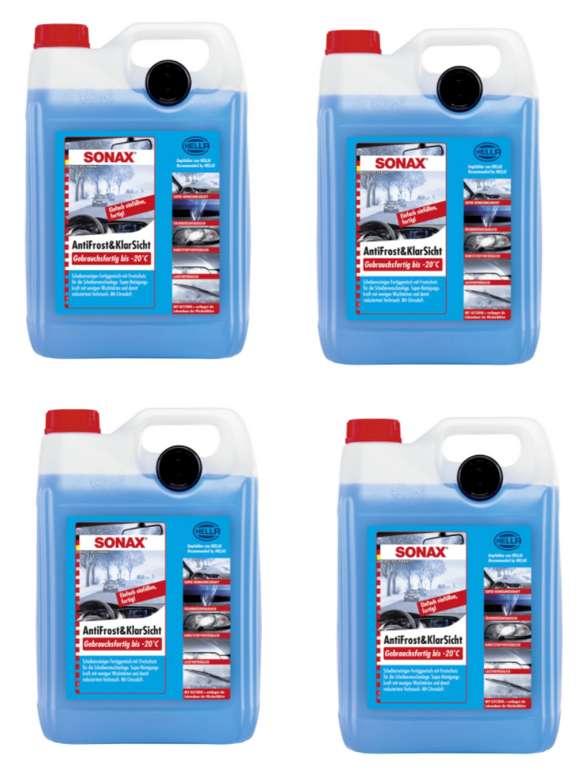 4 x 5 L Sonax AntiFrost&KlarSicht Scheibenreiniger ab 27,99€inkl. Versand (statt 37€)