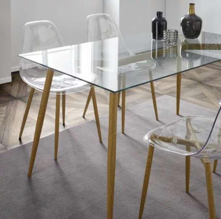 """Bessagi Home """"Vinnie"""" Esstisch (140x80cm) mit Glasplatte für 69,30€ inkl. Versand (statt 99€)"""