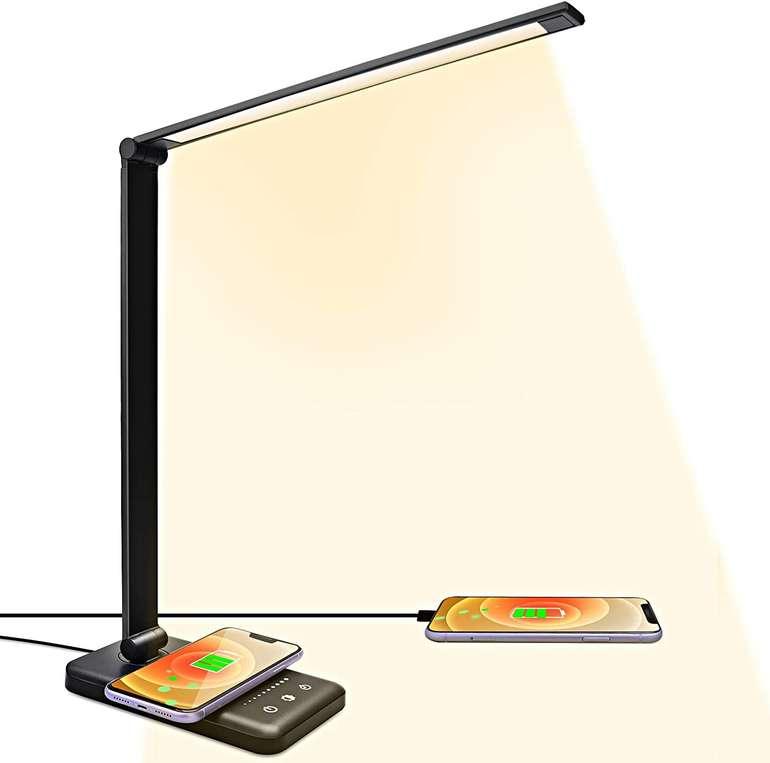 Acadgq LED Tischlampe mit Wireless Charger für 18,59€ inkl. Versand (statt 31€)