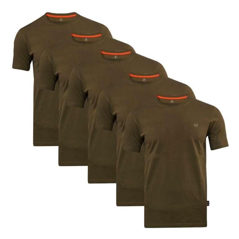 5er Pack Roberto Barini Herren Kurzarm Basic Rundhals T-Shirts für 29,99€ (statt 40€)