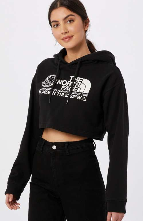 The North Face Sweatshirt mit Logo Print in schwarz/weiß für 34,90€inkl. Versand (statt 41€)