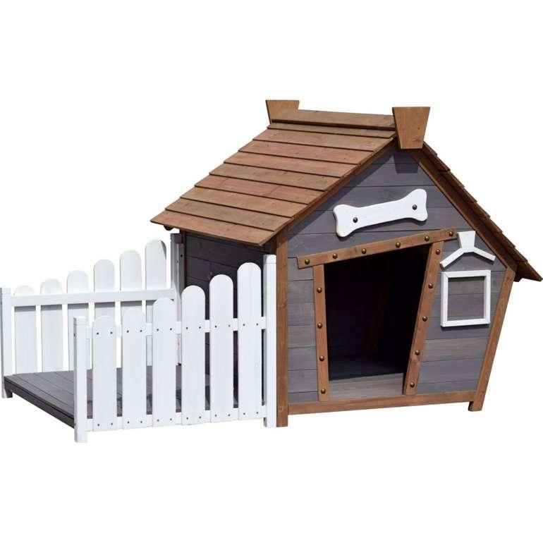 Dobar Outdoor-Hundehütte mit Spitzdach + Veranda für 164,99€ inkl. VSK (statt 203€)