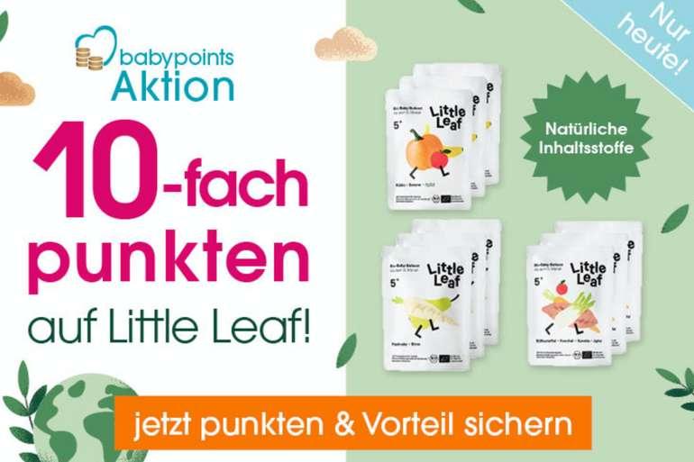 babymarkt.de: 10-fache babypoints auf Little Leaf Produkte