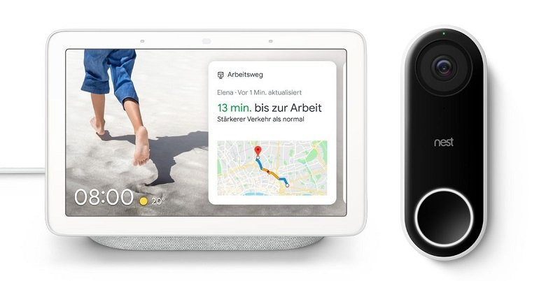 Google Nest Hello + Google Nest Hub für nur 249€ (statt 328€)