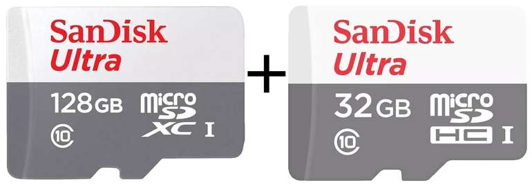 Sandisk Ultra UHS-I Micro-SDXC-Speicherkarte mit 128GB + 32GB für 14€ inkl. Versand (statt 23€)