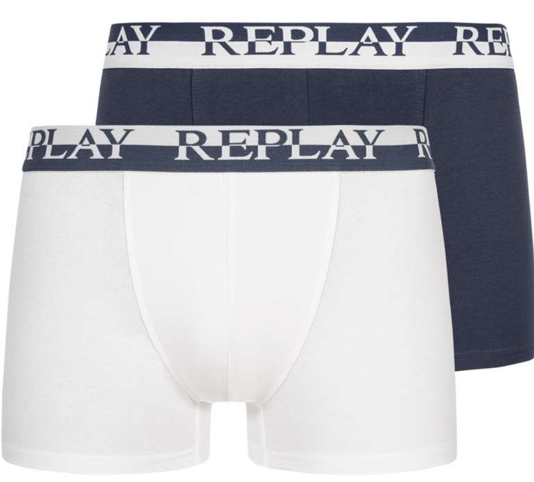 2er Pack Replay Herren Boxershorts (12 Farben) ab 9,54€ inkl. Versand (statt 24€) - SparClub für 8,45€