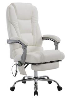 CLP Chefsessel Pacific Kunstleder mit Massagefunktion in weiß für 146,18€inkl. Versand (statt 208€)