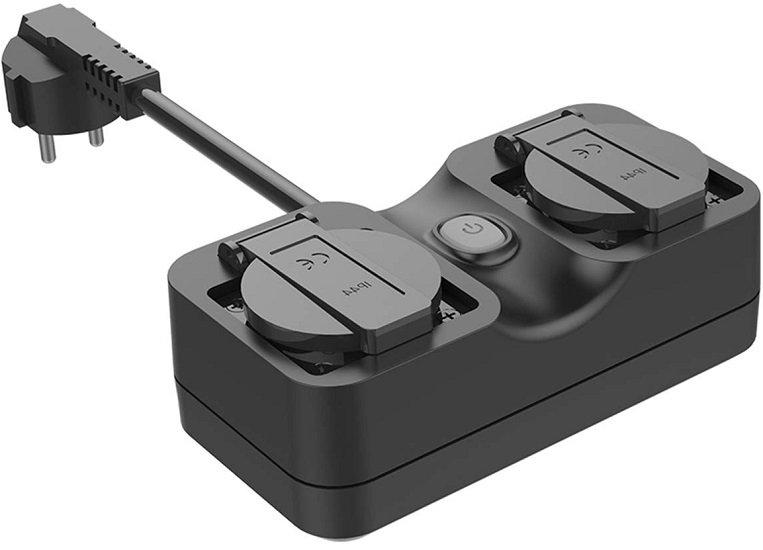 Refoss - smarte Doppel-Außensteckdose (kmptl. mit Alexa, Google Home und IFTTT) für 16,89€ inkl. VSK