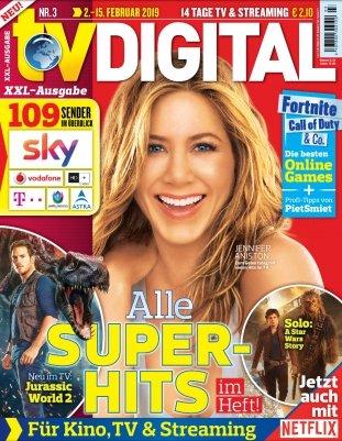 Mini Abo: 7 Ausgaben TV Digital XXL für 17,85€ + 15€ Verrechnungsscheck