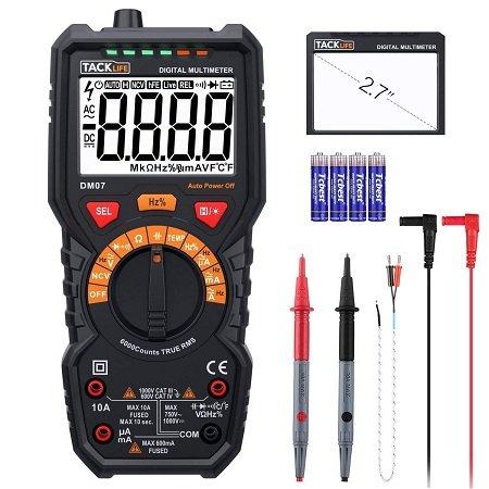Tacklife DM07 Digitales Multimeter mit LCD-Bildschirm für 18,99€ (Prime)