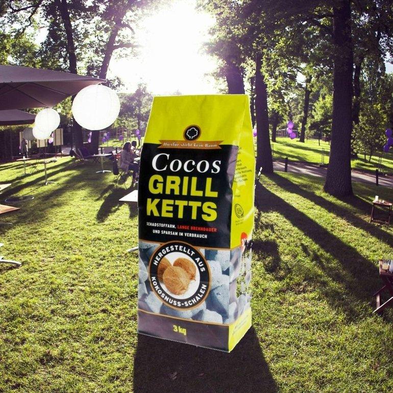 24kg Cocos Grill Ketts ökologische Grillkohle-Briketts für 33,28€