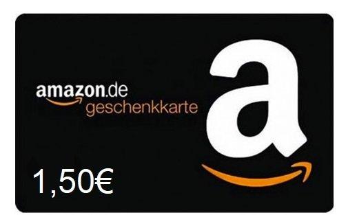 1,50€ Amazon Gutschein für 1€ - Begrenzte Stückzahl!