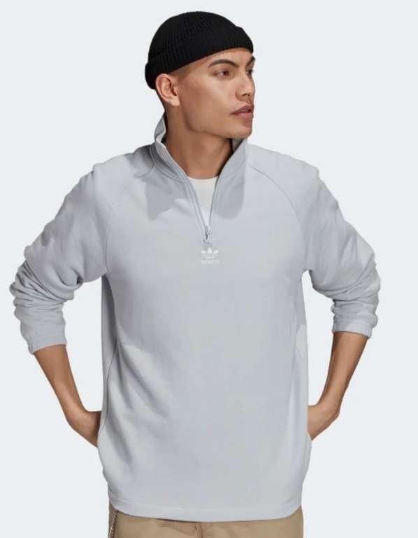 adidas Classics Trefoil Sweatshirt Half-Zip in Grau für 33,15€inkl. Versand (statt 43€) - APP!