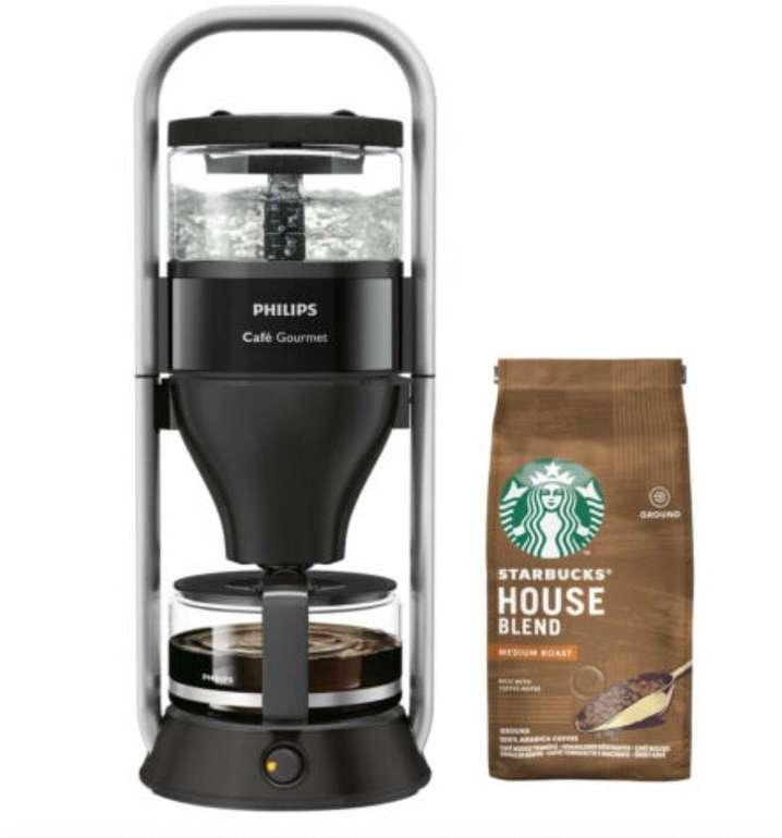Philips Cafe Gourmet HD5408/60 Kaffeemaschine + 200g Starbucks Filterkaffee für 79,90€ (statt 93€)