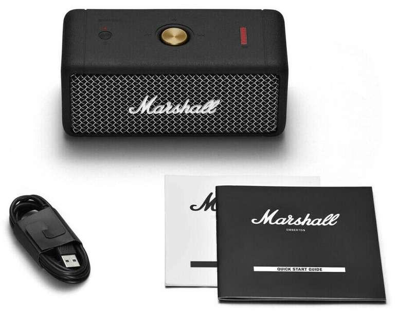 Marshall Emberton BT - Bluetooth Lautsprecher für 109€ inkl. Versand (statt 120€) - Newsletter Gutschein!