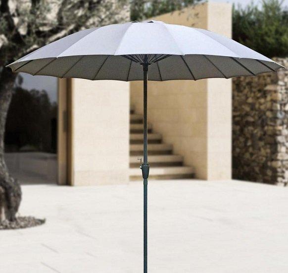 Bessagi Garden Sonnenschirm Sunny in Hellgrau (Spannweite 250cm) für 20,93€ (statt 40€)
