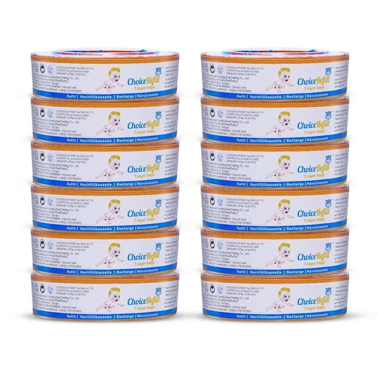 12er-Pack ChoiceRefill Nachfüllkassetten für Angelcare Windeleimer für 38,99€ inkl. VSK