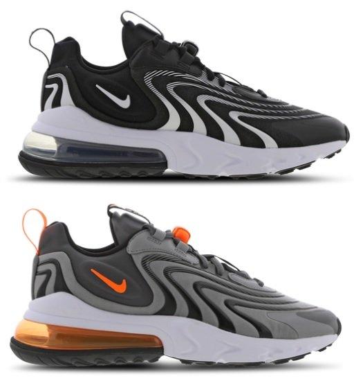 Nike Air Max 270 React Eng in grau (zwei Varianten) für 109,99€ inkl. Versand (statt 124€)
