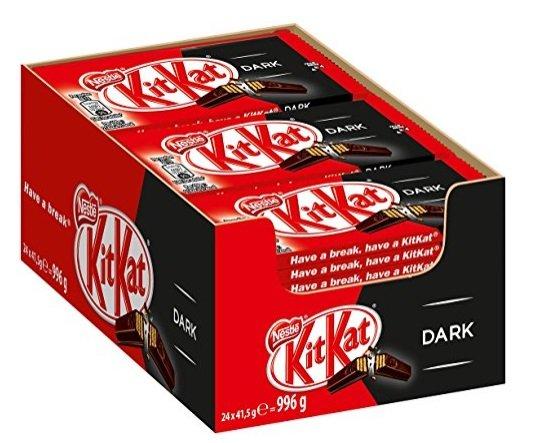 24er Pack Nestle KitKat Dark Schoko-Riegel für 10,38€ inkl. Versand