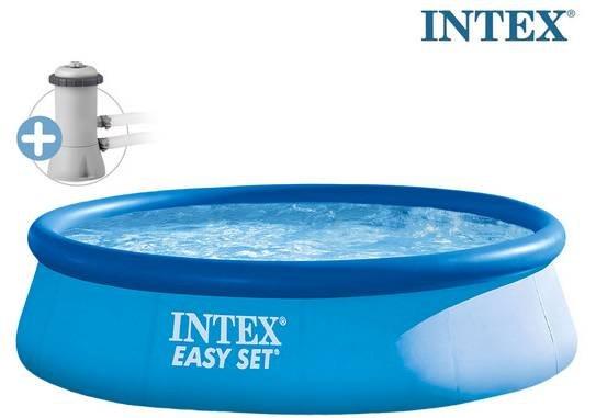 Intex Easy Pool Set (396x84cm) mit Filterpumpe für 58,90€ (statt 80€)