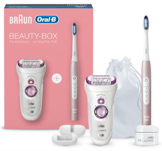 Braun Epilierer Silk-épil 9-700 + Oral-B Pulsonic Slim Luxe 4000 Zahnbürste 101€