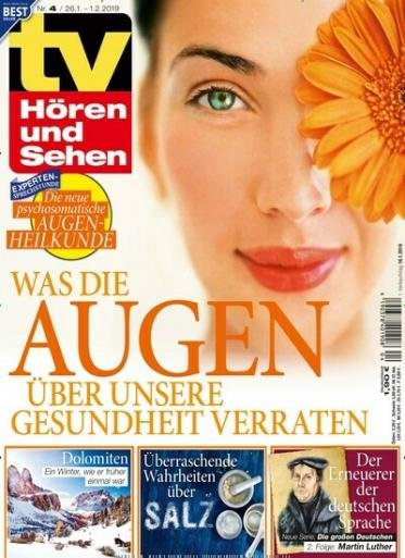 """Jahresabo """"TV Hören und Sehen"""" für 114,40€ + 110€ Amazon.de Gutschein"""