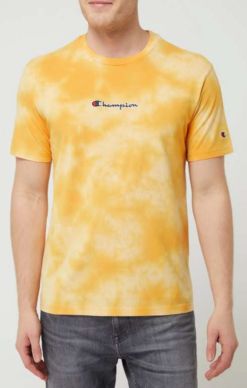 Champion T-Shirt im Batik-Look in Gelb für 9,99€inkl. Versand (statt 20€) - Größe M